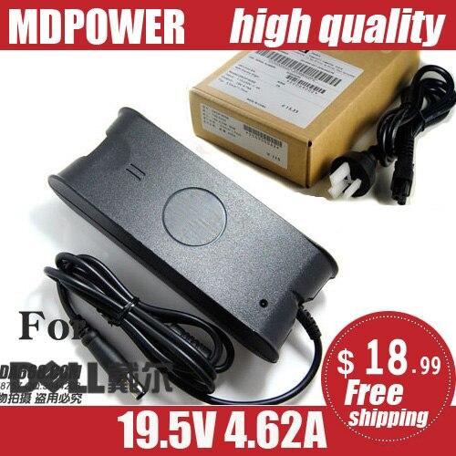 Mdpower para dell inspiron 1526 1545 1720 portátil portátil fonte de alimentação ac adaptador carregador cabo 19.5v 4.62a 90w