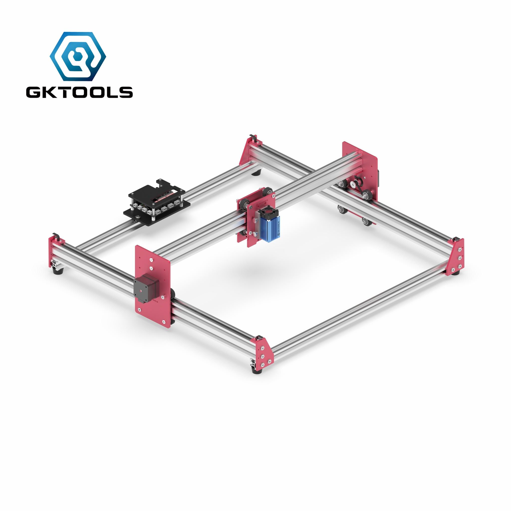 Лазерная тяга гравировки бесплатная доставка GK4545Pro 45*45 см мини 500/2500/5500/7500 МВт CNC машина