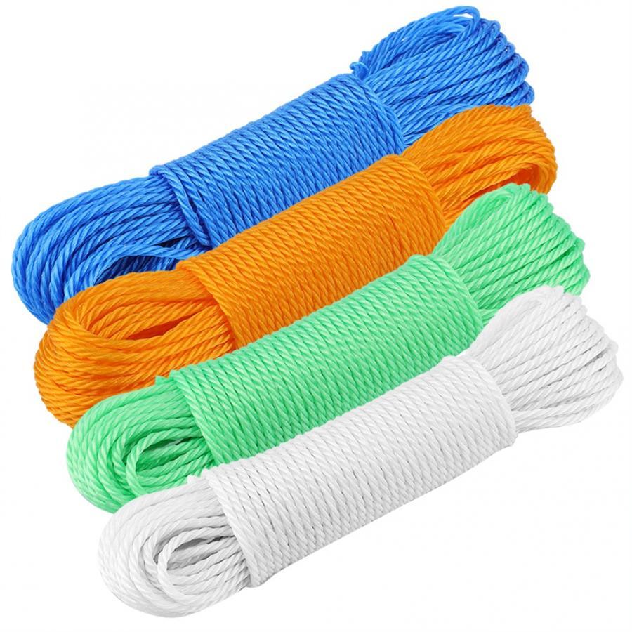 20 м длинная цветная нейлоновая веревка для сушки одежды Вешалки бельевая веревка шнур веревка для кемпинга на открытом воздухе садовые товары для путешествий