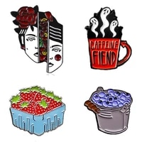 anime pins enamel brooches badges for women metal pin gothic style brooch enamel badges on backpack womens decorative badges