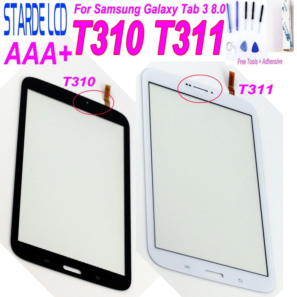 Starde 8,0 pantalla táctil para Samsung Galaxy Tab 3 8,0 T310 T311 SM-T310 SM-T311 digitalizador de pantalla táctil Sensor Tablet PC partes