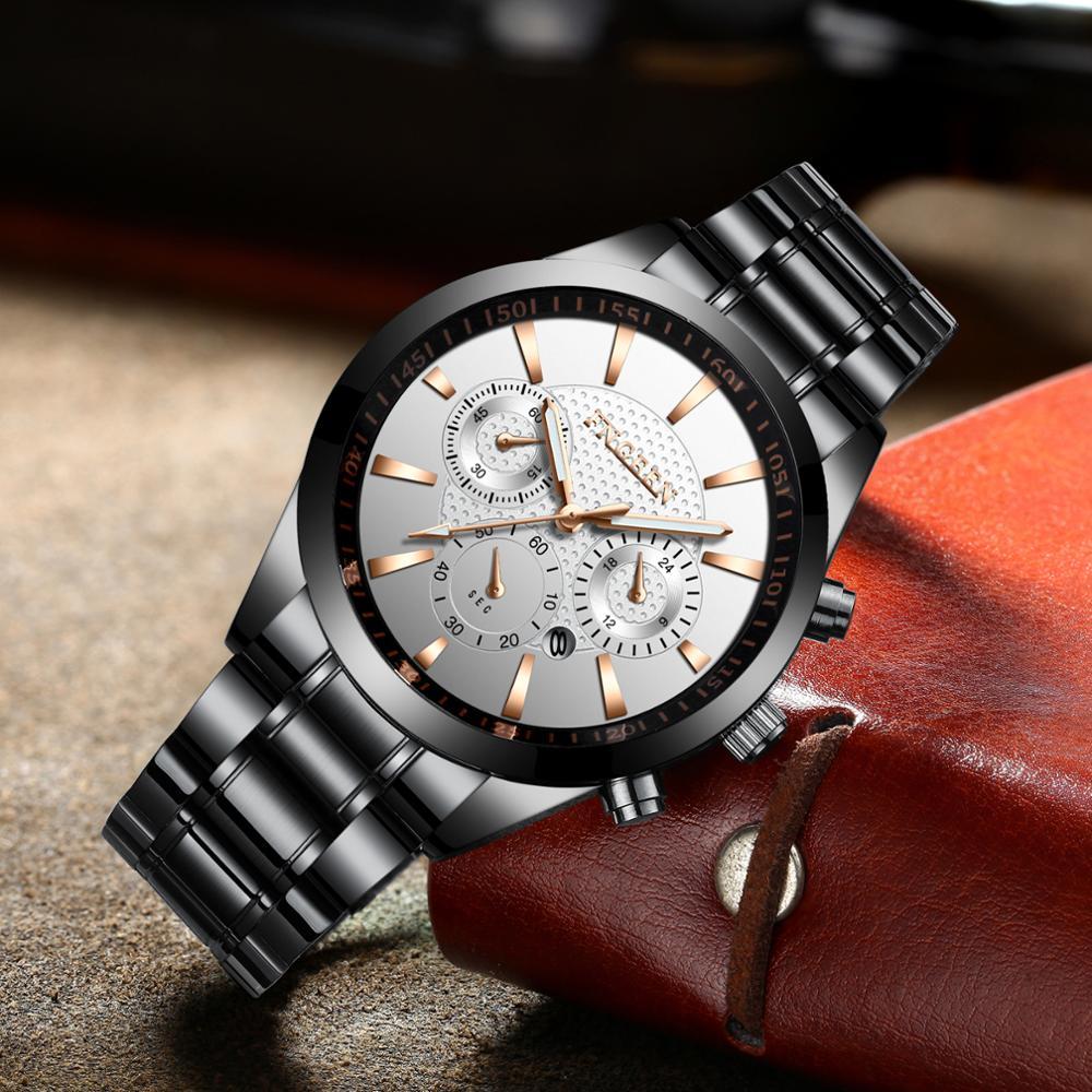 Top Brand Fashion Triple dials Watch Quartz Watch Male Clock Relogio Masculino Man Army Sports Casual Wristwatches Mens Watches