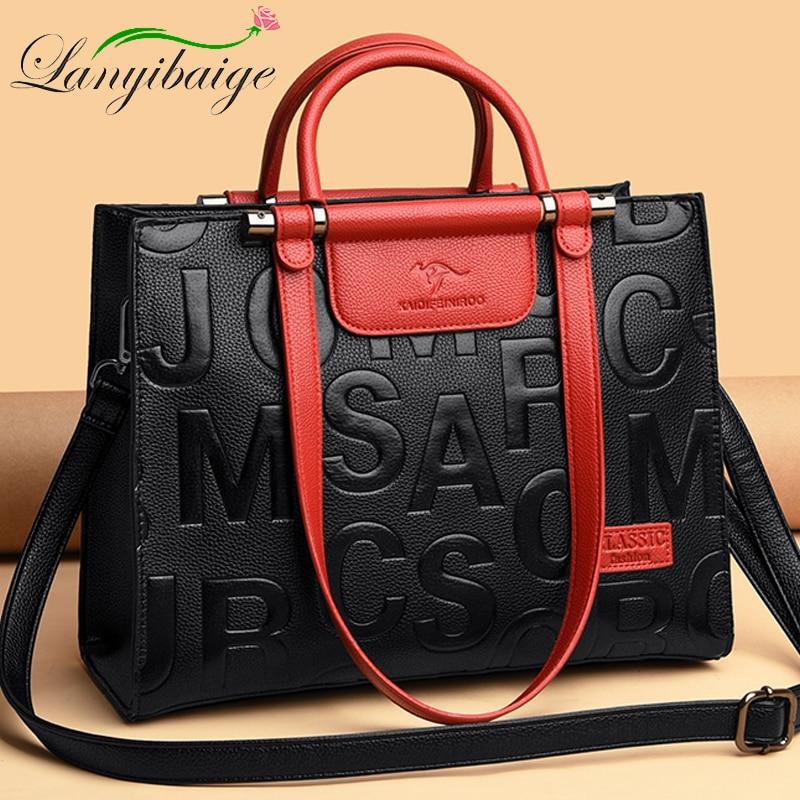 Famous Designer Brand Bags Ladies PU Leather Handbag 2020 Luxury Ladies Handbag Purse Fashion Shoulder Bag Travel Casual Handbag