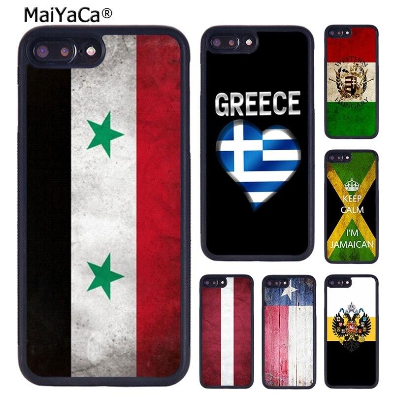 Funda de teléfono MaiYaCa con bandera de Siria, Hungría, Letonia, Rusia, Corea del Sur para iPhone 5 6 7 8 plus 11 pro X XR XS max Samsung S7 S8 S9 S10