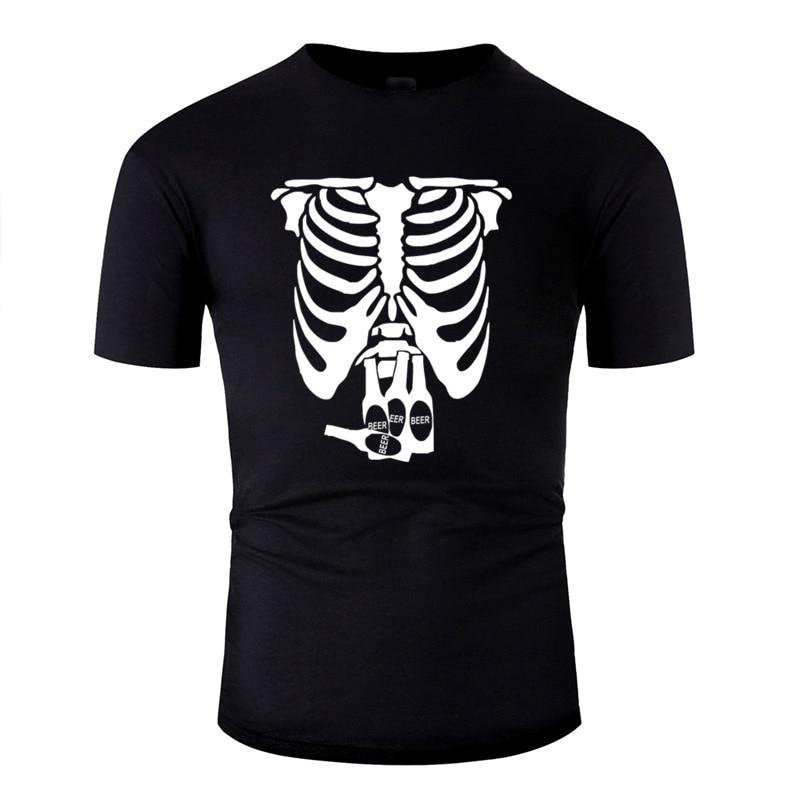 Print Beer Belly Xray Skeleton Funny Men Tshirt 2020 Big Size 3xl 4xl 5xl Cool Mens Tee Shirt Hiphop