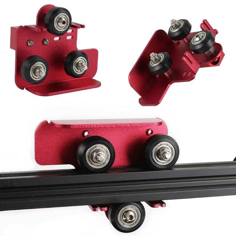 طابعة ثلاثية الأبعاد أجزاء الطارد الخلفي دعم لوحة معدنية مع بكرة هوتند البثق الطارد لوحة الظهر لمجموعة CR-10 برو