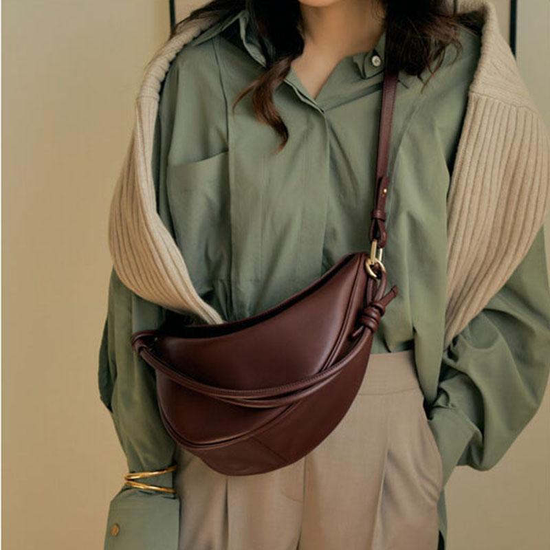 Designer Crossbody Bags for Women Knotted Strap Shoulder Bag Women Luxury Pu Leather Women's Handbag