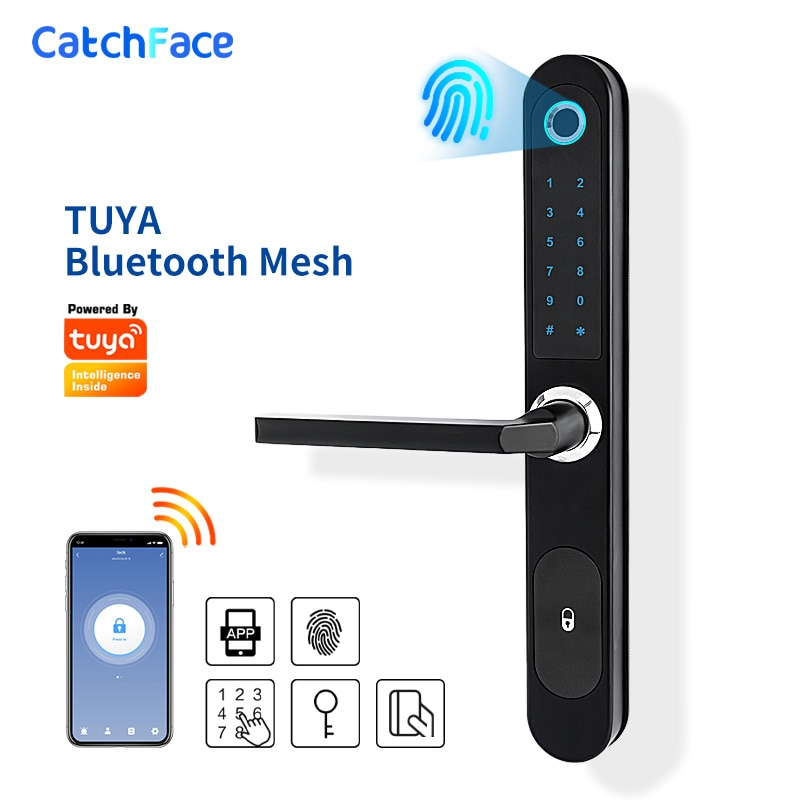 Review TUYA APP Waterproof Fingerprint Lock Outdoor Gate Lock RFID Code Keyless Smart Lock Digital Electronic Door Lock for Glass Door