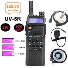 8W BAOFENG UV-5R talkie-walkie 10km Station de Radio bidirectionnelle UHF VHF double bande émetteur-récepteur jambon CB Radio chasse Woki Toki UV 5R
