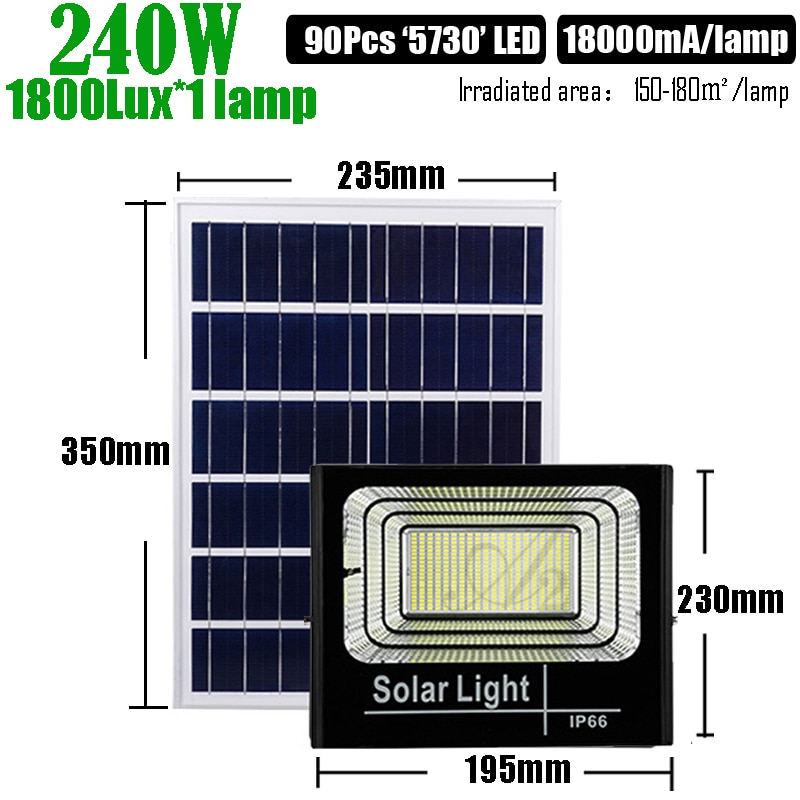 3000K  200W Warm Light Solar LED Light Waterproof Outdoor Garden Lamp  Remote Control Extension Cable Street Lighting enlarge