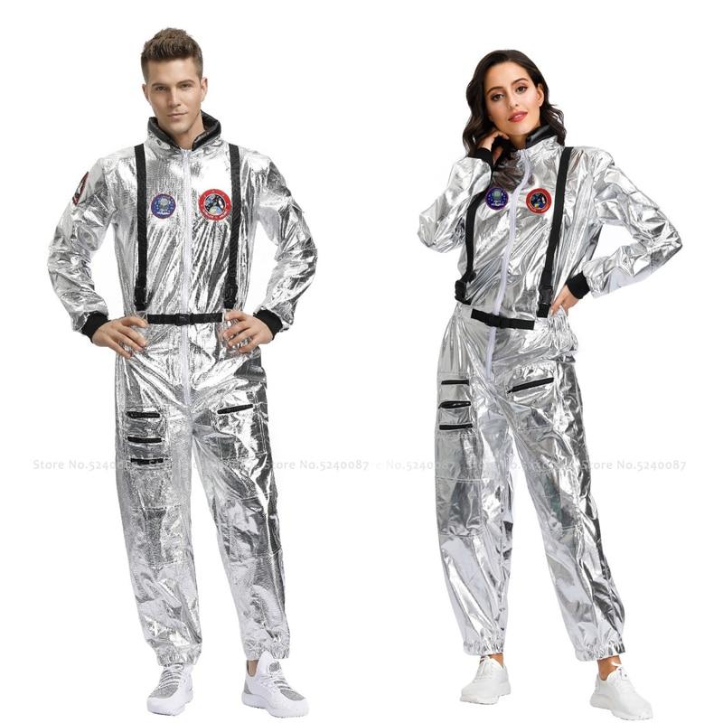 Halloween mujeres hombres parejas fiesta escenario espacio traje carnaval mascarada astronauta mono Cosmonaut juego de rol Cosplay disfraces