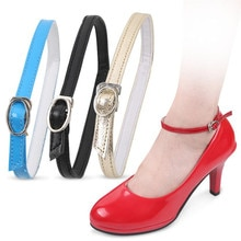 1 paio di lacci regolabili alla moda per tacchi alti cintura per scarpe caviglia che tiene le donne allentate Bundle antiscivolo lacci cinturini cinturino
