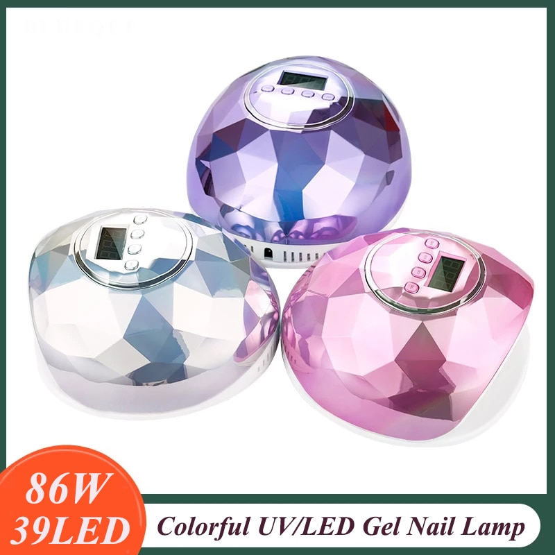 86W UV LED Lamp For Manicure Professional Nail Dryer UV LED Gel Nail Lamp Fast Curing Gel Polish Ice Lamp For Nail Art Machine