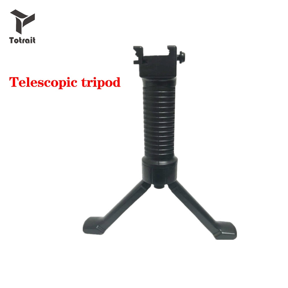 TOtrait Material de nailon plástico militar táctico delantero agarre bípode Picattinny Weaver carril Rifle Foregrip para Paintball