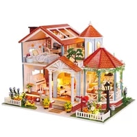 doll house furniture diy miniature 3d wooden miniaturas dollhouse toys for children birthday gifts