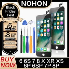 NOHON LCD Display For iPhone 6 6S 7 8 Plus X XS XR Screen Replacement HD 3D Touch Digitizer Assembly