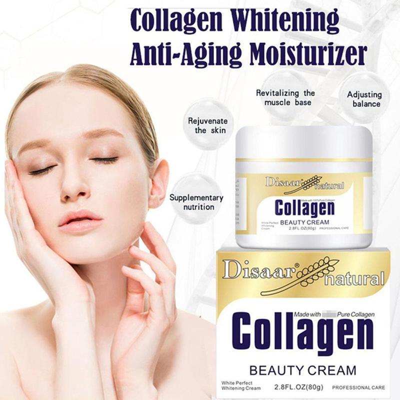 80g Collagen Lifting Cream Face Hydrating Cream Skin Care Whitening Moisturizing Anti Wrinkle Korean Cream NEW недорого