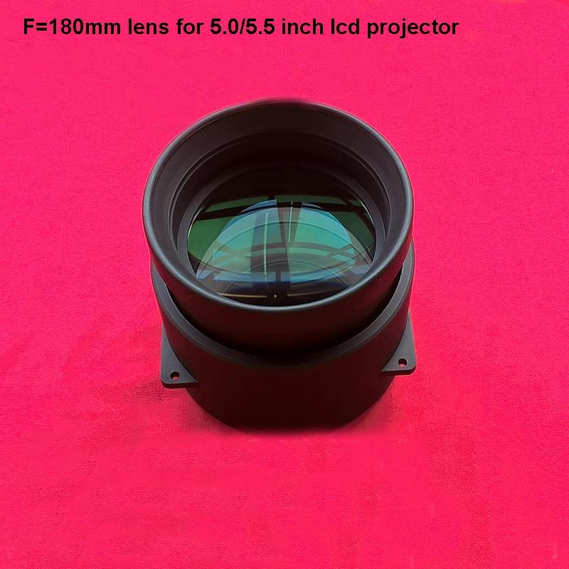 جهاز عرض (بروجكتور) ليد DIY عدسة F180mm البؤري الإسقاط الزجاج عدسة السينما المنزلية diy عدسة ل 5/5. 8 بوصة العارض lcd الشحن مجاني
