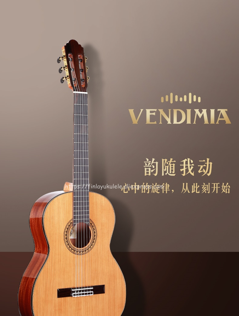 Professional 36 inch Acoustic Classical guitar With Solid Cedar Top/Magogany Body ,3/4 Classical guitar 580MM,traveling guitar enlarge