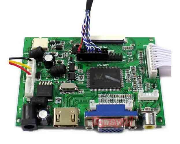 HDMI+VGA 2AV Control Board Kit for HSD140PHW1 B140XW01 LP140WH1 LP140WH2 LP140WH4 14inch 1366x768 LCD LED screen Driver Board