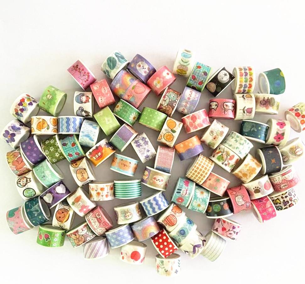AliExpress - (10 Pieces/Lot) 1.2cm*3M Cute Cartoon Masking Tape Mini Washi Tape DIY Decoration Paper Sticker Kids Gift