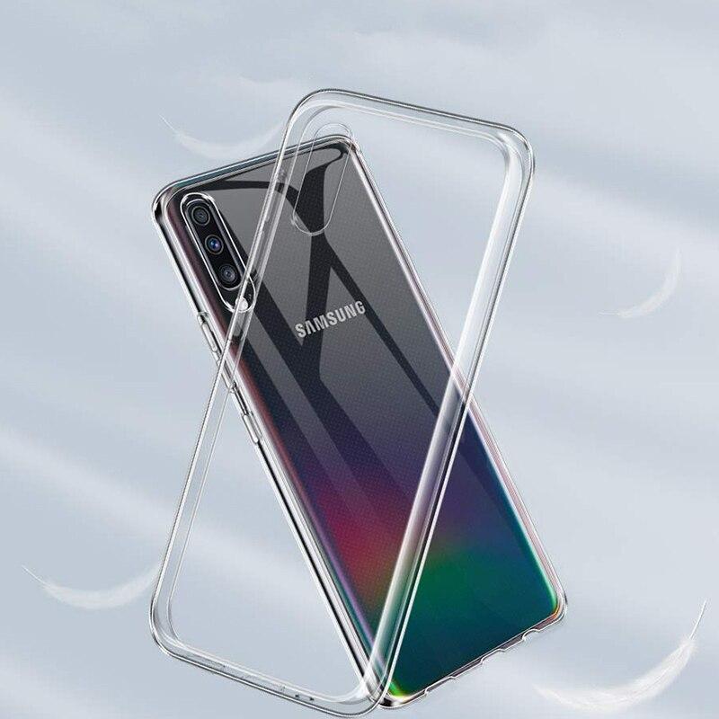 Прозрачный мягкий силиконовый чехол для телефона для Samsung A50 A70 чехол для Samsung S7 край S8 S9 S10 плюс J7 2017 A10 Note 8, 9, 10, A9 2018 S7 чехол из ТПУ