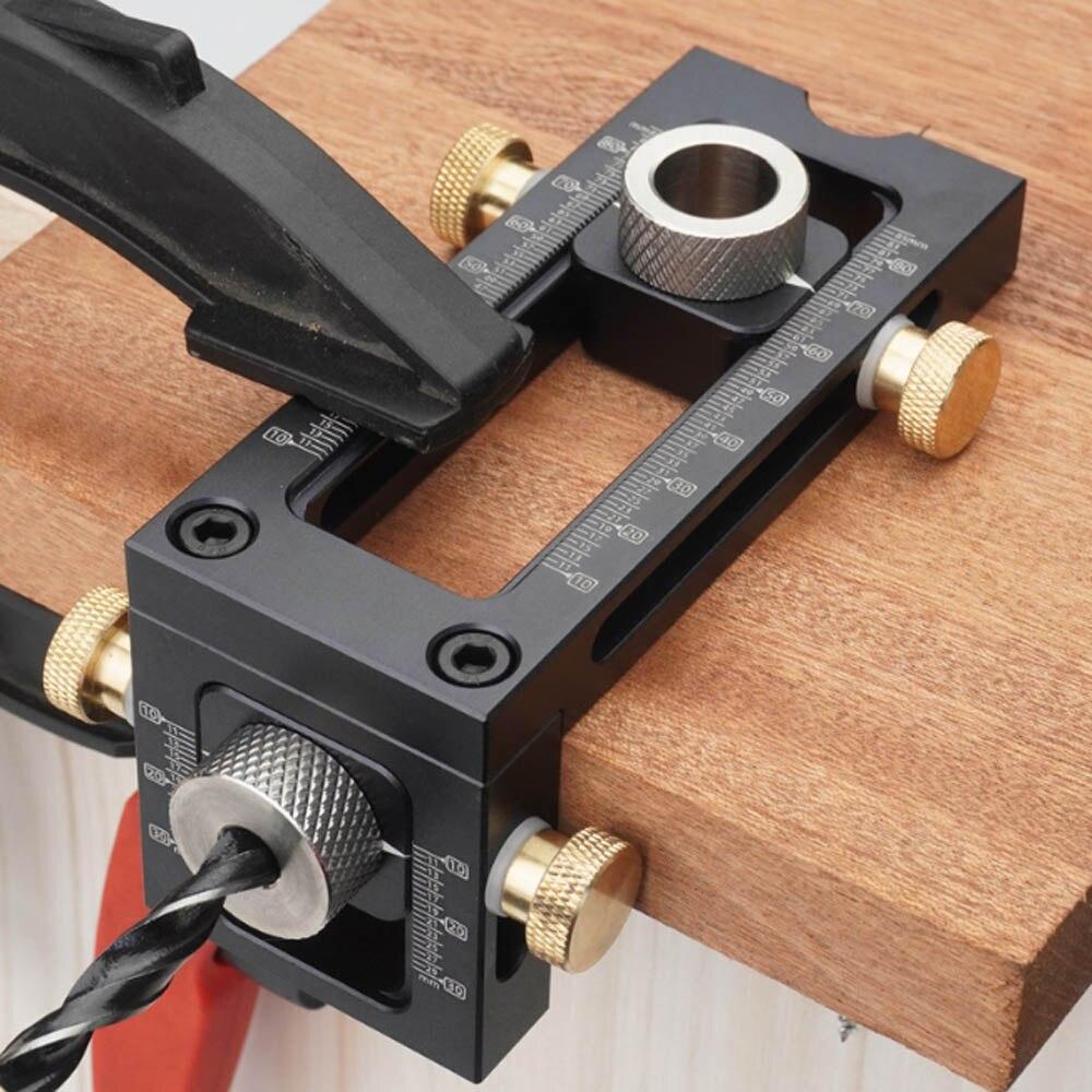 Ferramentas para trabalhar madeira 2 em 1 broca punch posicionador localizador gabarito para bebê berço cruz oblíqua cabeça plana perfurador cama gabinete parafuso