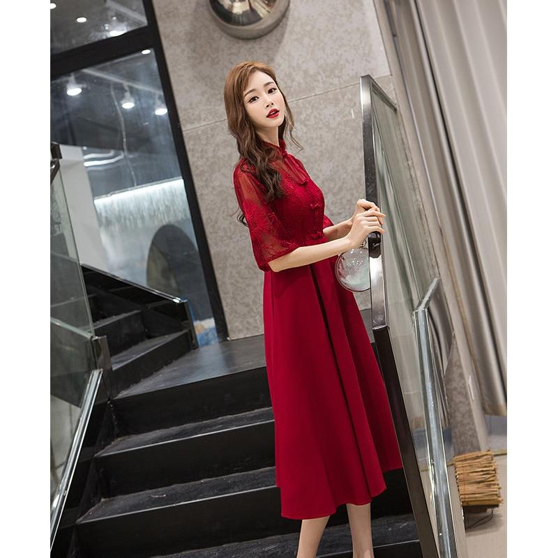 chinese Style Half Sleeve Pregnant Women Dress Mandarin Collar Style Women Formal Dresses Wedding Dress For Pregnant Woman ZL641 enlarge