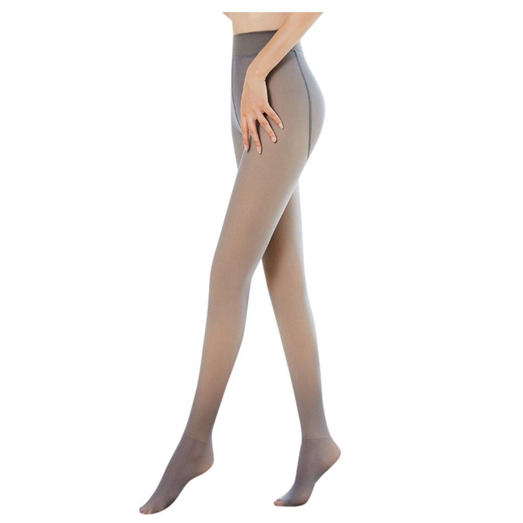Moda Sexy meia-calça meias Pernas Perfeitas Falso Translúcido Lã Quente Meias-Preto/Cinza/Café Original чулки колготки