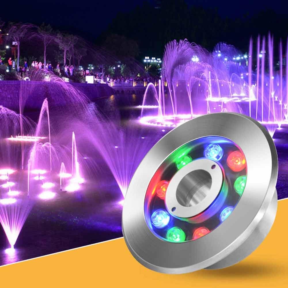 LED Fountain Light 6W 9W 12W 18W IP68 LED Pool Light AC/DC12-24V Underwater RGB Submersible Lamp Garden Swimming Pond Decor