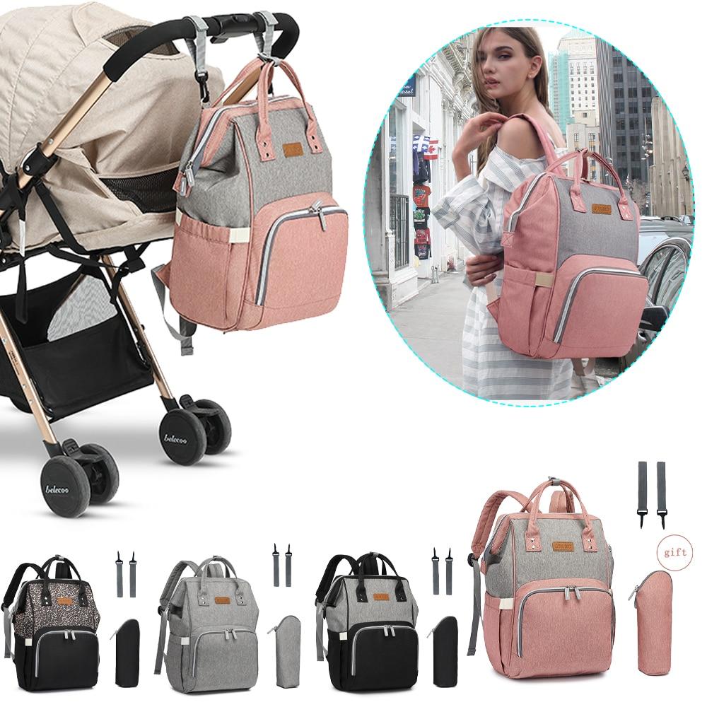 OUSIJOJO حقيبة ظهر للحفاضات المومياء الأمومة حقيبة الحفاض السفر أكياس حفاظات لرعاية الطفل مع حقيبة عزل مستقلة