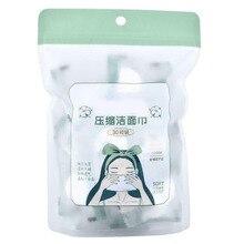 30 pièces jetables compressées visage tissu voyage coton nettoyage serviette de nettoyage soins du visage lingette accessoires