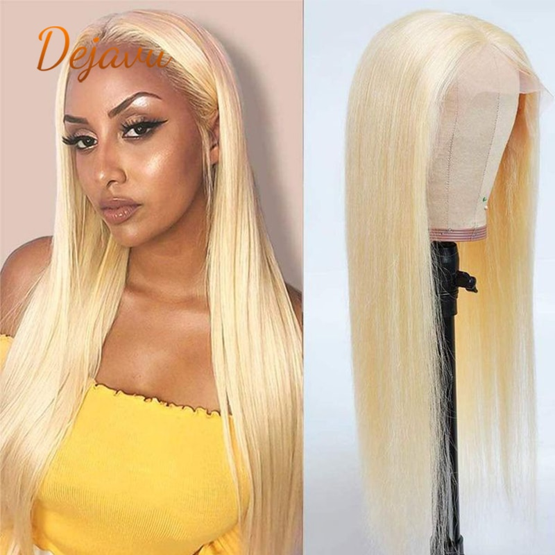 613 Lace Frontal Wig 13x4 Blonde Lace Front Wig Virgin Straight Human Hair Wigs Pre Plucked With Baby Hair Remy Wig