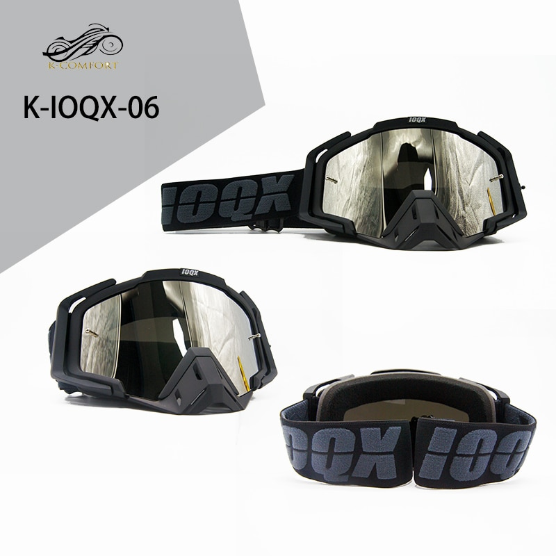 IOQX Professional Motocross Goggles Cycling Eyewear Outdoor Glasses Off Road Motorbike goggles For Motorcycle Helmet glasses enlarge