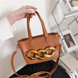 Fashion Handbag Thick Chain Crossbody Bag Women's Food Basket Shoulder Bags Luxury Purse Female High Quality Soft Messenger Bag