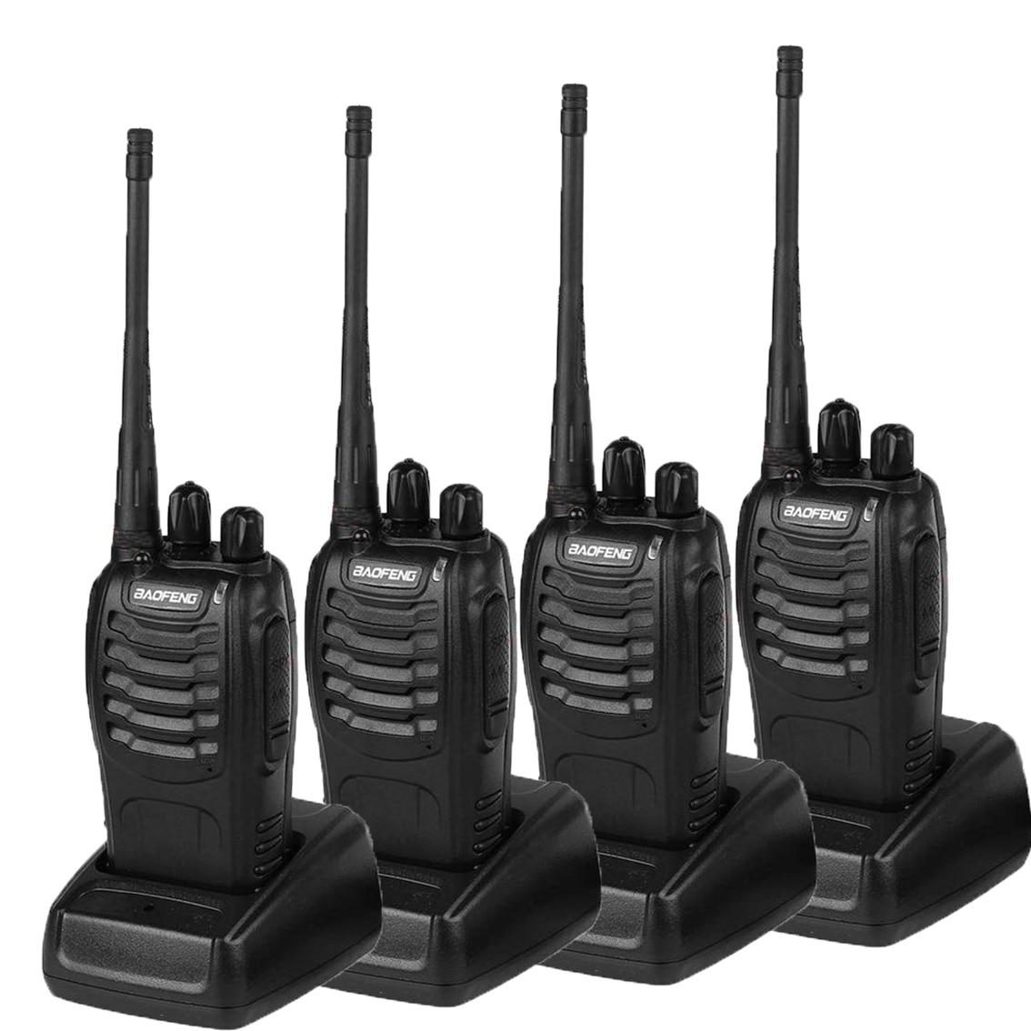 4pcs original Baofeng BF-888S Walkie Talkie set walki-talki two way Transmitter Transceiver UHF radio for hunting outdoor worker