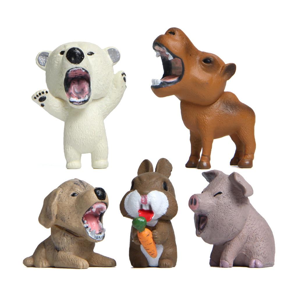 5 видов, дикие животные, сумасшедшие маленькие животные, свинки, прикольные, Мультяшные креативные Ландшафтные украшения для рабочего стола