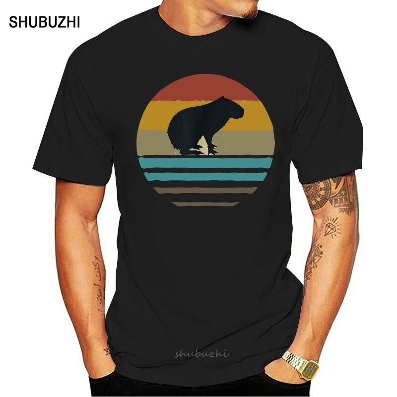 Capybara camisa retro vintage 70s silhueta angustiado presente