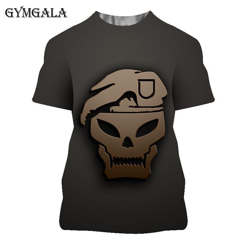 Camiseta con estampado 3D de juego Call of Duty para hombre, ropa...