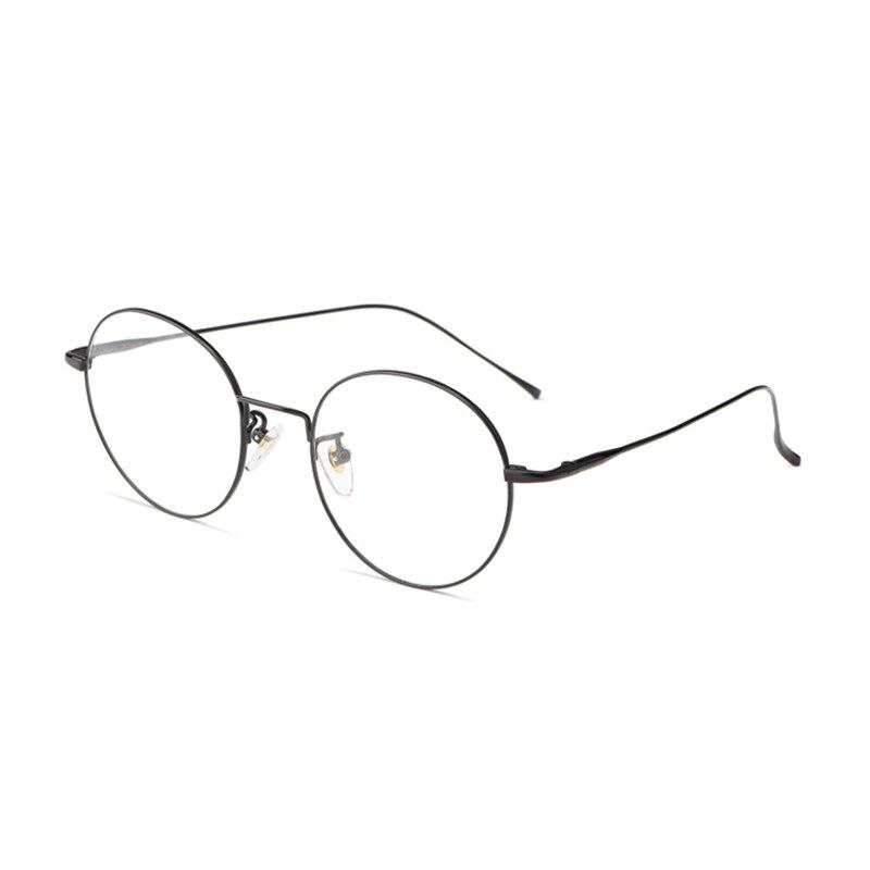 Ретро металлическая оправа очки высокое качество сплав круглые прозрачные линзы очки Оптические мужские и женские мужские поддельные очки...