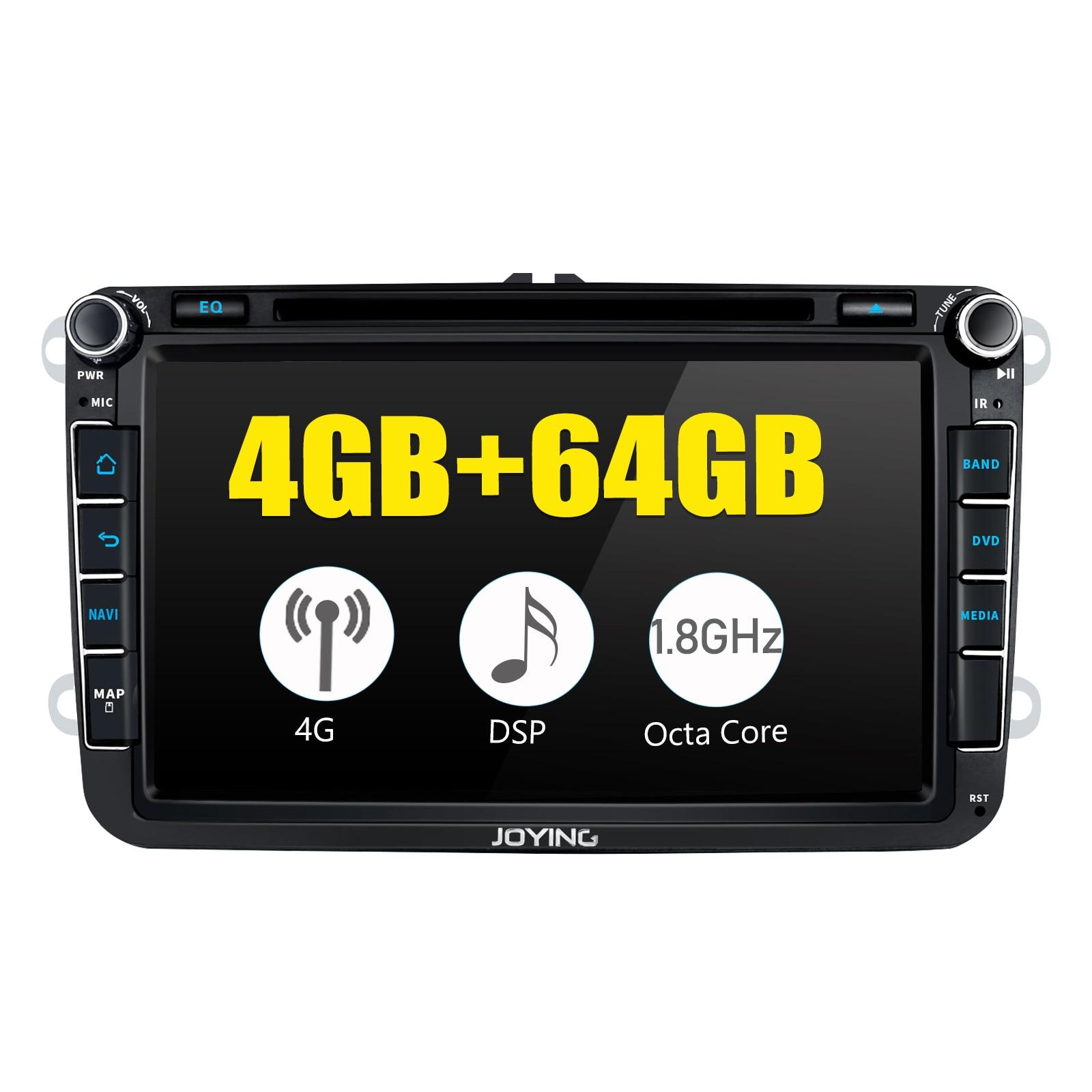 "JOYING 8 ""Android 8,1 4GB & 64GB 2 din Auto Radio GPS für VW GOLF 5/6 Polo passat b6 Jetta Tiguan Touran Skoda sitz KEINE DVD-player"