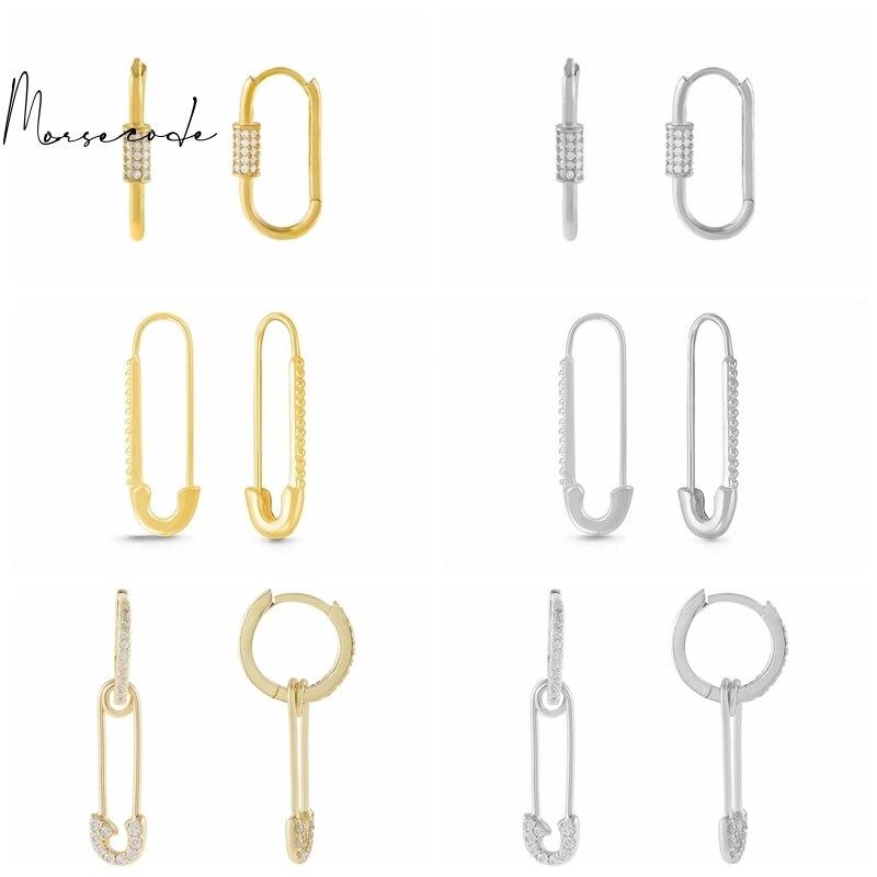 Морс-геометрический-pin-серьги-для-Для-женщин-пирсинг-уха-кольцо-серьги-круг-висячие-серьги-серебро-925-ювелирные-украшения-женские-серьги
