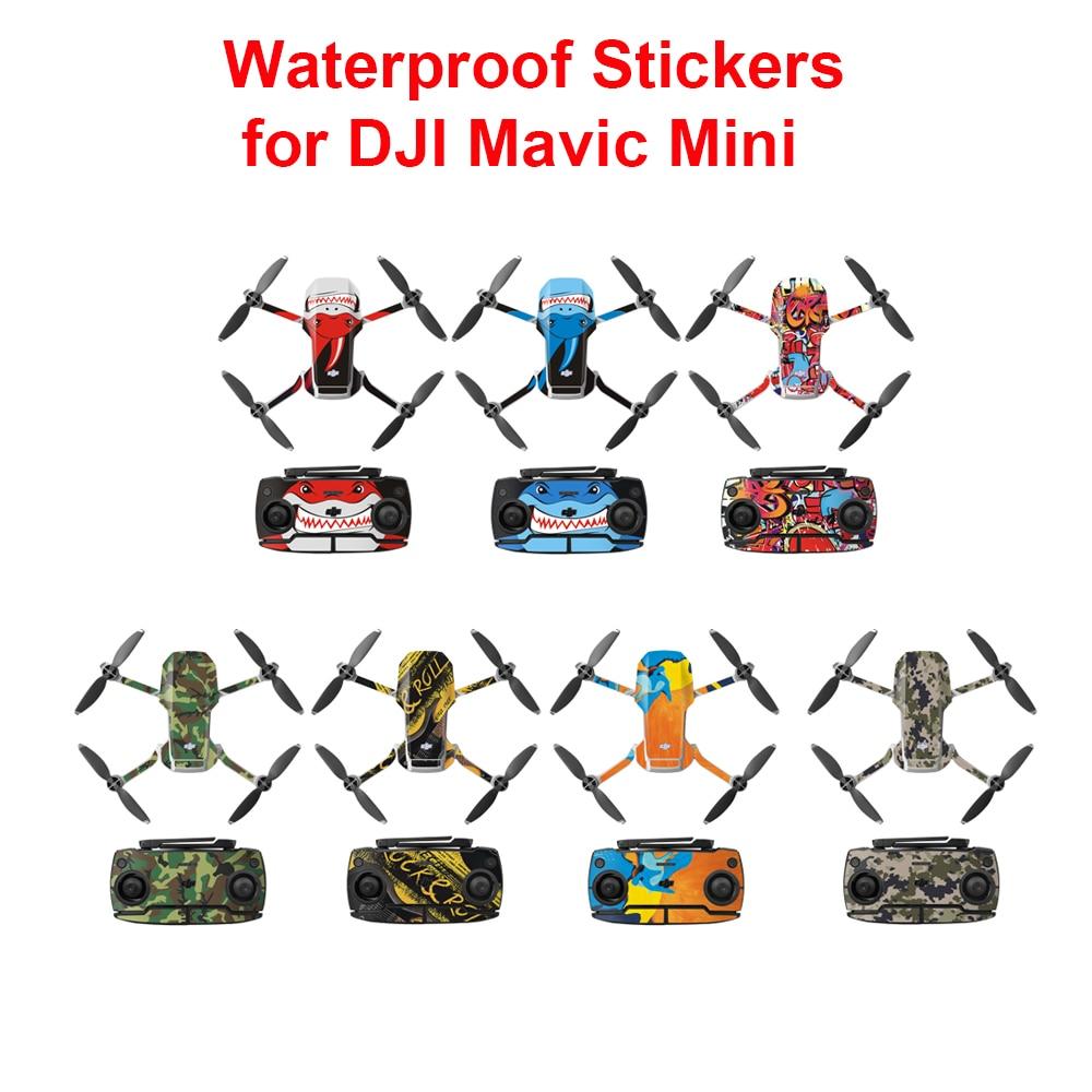 Водонепроницаемый DJI Mavic Mini ПВХ наклейки защитная пленка полное покрытие кожи для DJI Mavic Mini в камера Дрон аксессуары