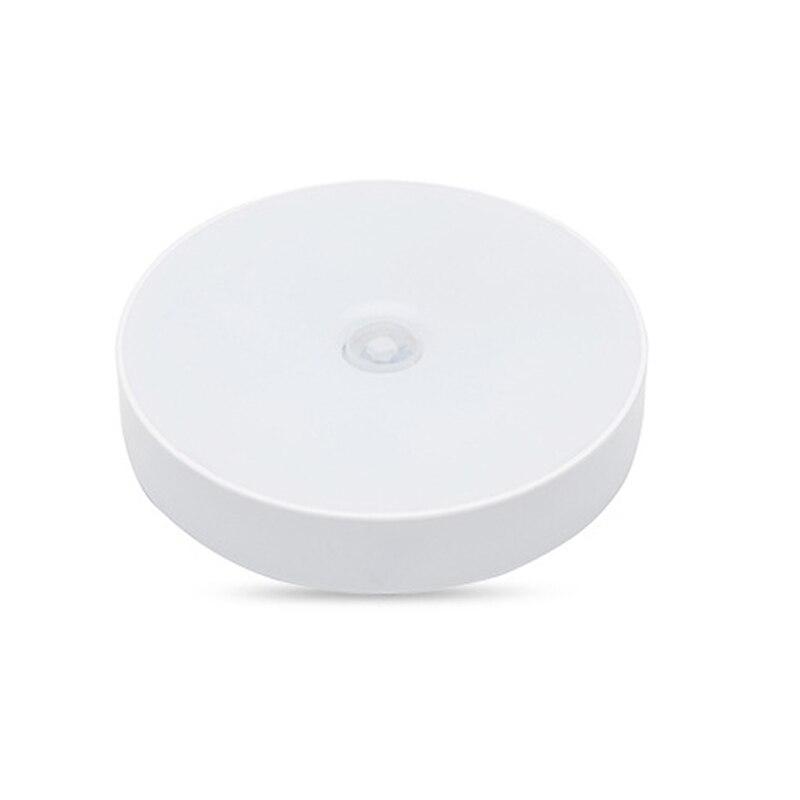 3AAA Battery LED Night Light PIR Motion Sensor Round Cabinet light Energy Saving Wall Lamp Lighting