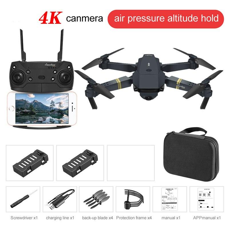 E58 WIFI FPV With True 4K/1080P/720P Wide Angle HD Camera High Hold Mode Foldable Arm RC Drone Quadcopter RTF VS E68 M69 F86
