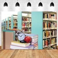 yeele back to school backdrop student children party bookshelf books alarm clock background photography photo studio photophone