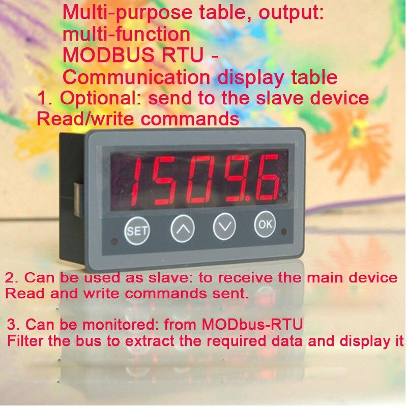 RS485 المنفذ التسلسلي متر الاتصالات متر MODBUS-RTU الاتصالات عرض متر يمكن ماستر يمكن الرقيق يمكن رصدها