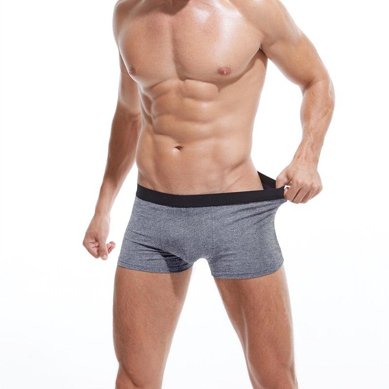 4pcs/lot Male Panties Cotton Men's Underwear Boxers Breathable Man Boxer Solid Underpants Comfortable Brand Shorts