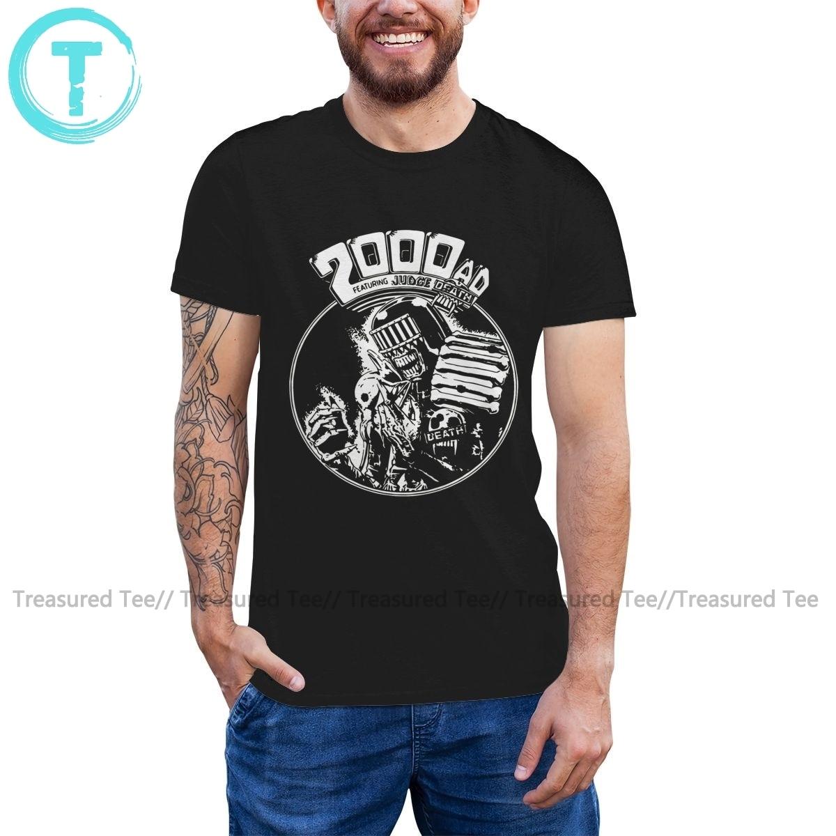 Camiseta Judge Dredd, camiseta de manga corta con estampado de la muerte de Dredd, camiseta divertida para hombre