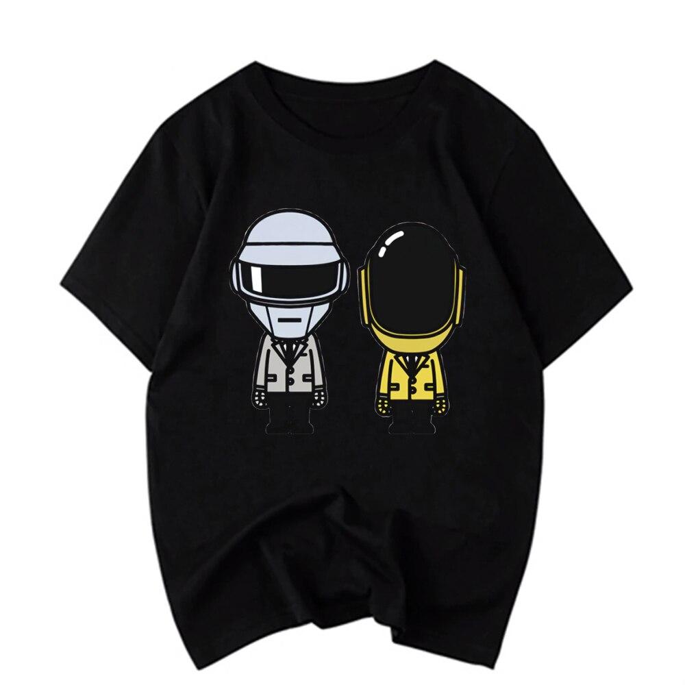 Camiseta para hombre, camiseta Casual Daft Punk Helmet de Hip-Hop, camisetas Harajuku, Top, camisetas para hombre